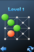 Screenshot of Hopping dots - logic puzzle