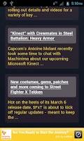Screenshot of Capcom News