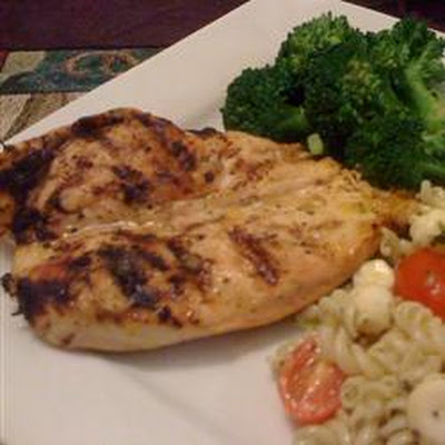Grilled Chicken with Mango-Riesling Marinade