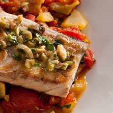 Grilled Mackerel with Tomato, Fennel, and Capers Recipe