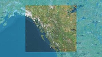 Screenshot of PeakFinder Canada West