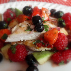 Grilled Chicken with a Summer Berry Salsa