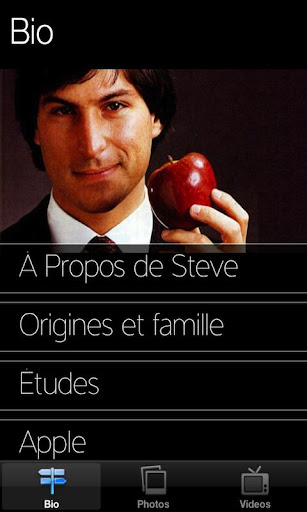 Steve Jobs in French