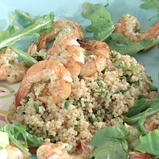 Mint Marinated Grilled Shrimp Tabbouleh Salad