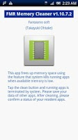 Screenshot of FMR Memory Cleaner