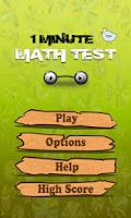 Screenshot of Math Game