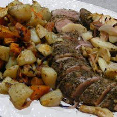 Apple Rosemary Pork Tenderloin