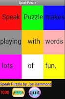 Screenshot of Speak Puzzle