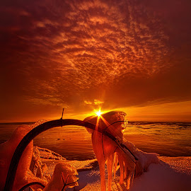 Only a Moment by Phil Koch - Landscapes Sunsets & Sunrises ( vertical, icicles, yellow, cave, leaves, love, sky, tree, nature, autumn, snow, perspective, light, orange, twilight, art, cliff, agriculture, horizon, portrait, ra  y, lake   michigan, environment, dawn, winter, serene, trees, lines, shore, natural light, wisconsin, summe  r, landscape, frozen, phil koch, sun, photography, farm, ice, horizons, clouds, office, park, green, scenic, morning, shadows, field, red, blue, sunset, amber, peace, meadow, beam, earth, sunrise )