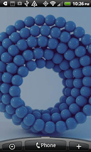 Blue Marbles Live Wallpaper - screenshot
