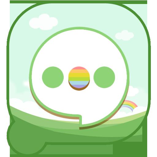 盘丝消息春意绿色主题 個人化 App LOGO-APP試玩