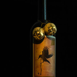 Holiday Bottle by Lee Jorgensen - Food & Drink Alcohol & Drinks ( wine, sine qua non, bottle shot, painting with light, holidays )