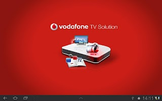 Screenshot of Vodafone TV Solution Tablet