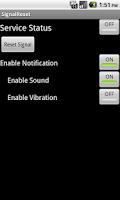 Screenshot of Signal Reset Donate