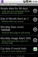 Screenshot of Data Traffic Control