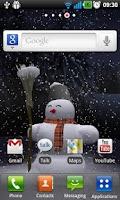Screenshot of Night snowfall 3D