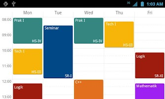 Screenshot of yasp! Class Schedule