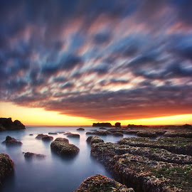 The Running Cloud by Arya Satriawan - Landscapes Cloud Formations ( water, clouds, bali, coral, sky, color, national geographic, sunset, beach, landscape )