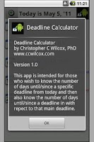 Screenshot of Deadline Calculator