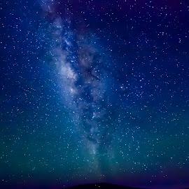 Mauna Loa's Milky Way by Warren Fintz - Landscapes Starscapes ( canon, mauna kea, long exposure, night, astrophotography, landsc, mauna loa, starscape, milky way,  )