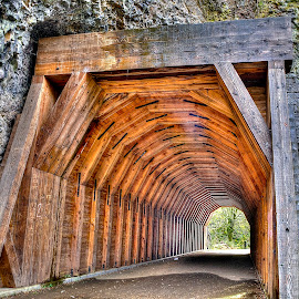 Historic Highway 30 Tunnel in Northern Oregon by Doug Keder - Buildings & Architecture Public & Historical ( tunnel )
