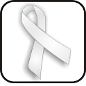 White Pearl Ribbon doo-dad icon