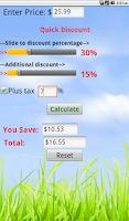 Screenshot of Quick Discount Calculator
