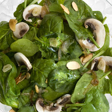 Warm Spinach Salad with Honey-Garlic Vinaigrette Recipe