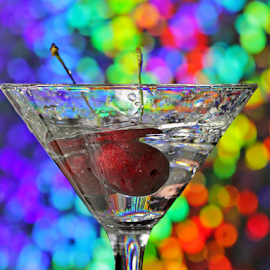 by Dipali S - Food & Drink Alcohol & Drinks ( water, cherry, fruit, beverage, drink, glass, part, bokeh )