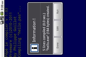 Screenshot of Pépé le compiler