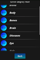 Screenshot of Human Body Facts