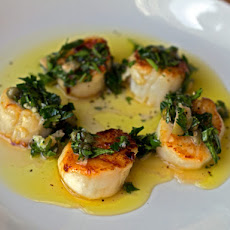 Seared Scallops with Salsa Verde
