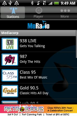 meradio for android screenshot