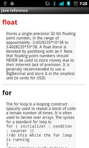 Quick Java Referece