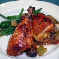 Apple Butter Chicken Thighs With Cocoa Nibs