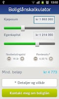Screenshot of SpareBank 1 Mobile Banking