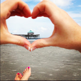 Folly Beach Pier by Lydia Huff - Instagram & Mobile iPhone