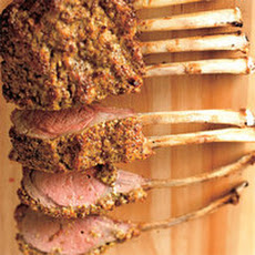 Rosemary-Crusted Rack of Lamb with Roasted Fennel and Red Onion