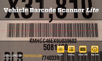 Screenshot of Vehicle Barcode Scanner Lite