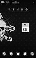 Screenshot of Black Skull Atom Theme