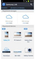 Screenshot of Samsung Link