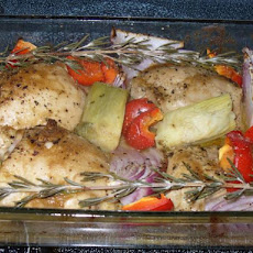 Mustard Chicken With Roasted Vegetables