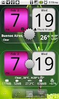 Screenshot of Flip Clock NicePink Widget 4x2