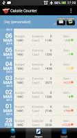 Screenshot of Calorie Counter Simple Lite