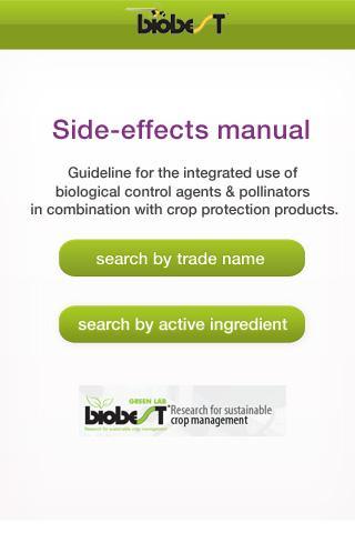 Biobest: Side-effects manual
