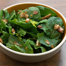 Spinach Salad with Warm Bacon Vinaigrette Recipe