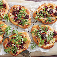 Blackberry-Brie Pizzettas