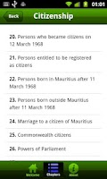 Screenshot of mauritius constitution