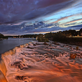 Sunset over the Falls 01 by Jeff Stallard - Landscapes Waterscapes
