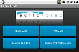 Screenshot of California Real Estate Exam